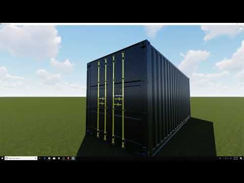Rendering A Shipping Container In Lumion From Sketchup