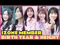 IZONE member Birth Year and Height - Produce 48