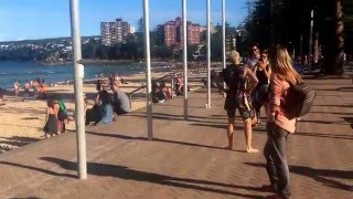 Sexy and I know it LMFAO - Spandy Andy sexy dance at Manly Beach, Australia
