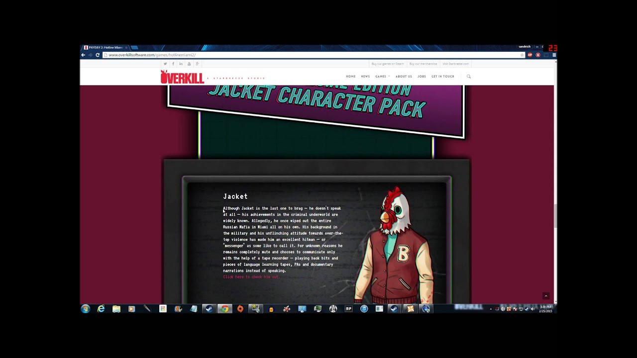 Payday 2/Hotline Miami 2 Crossover DLC Info - YouTube