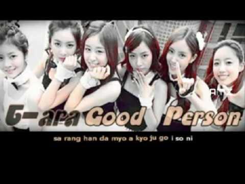 Good Person T-ara sing along (karaoke)