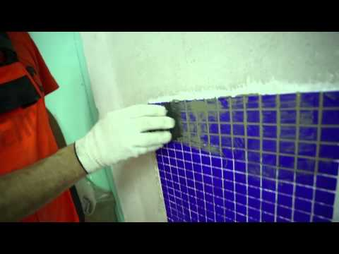 6. Затирка швов: Укладка мозаичной плитки. Крепс Усиленный Белый