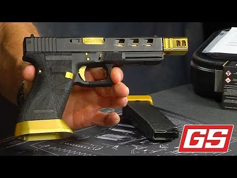 Glock 20 With Viper Slide Cut Gold Accents Youtube