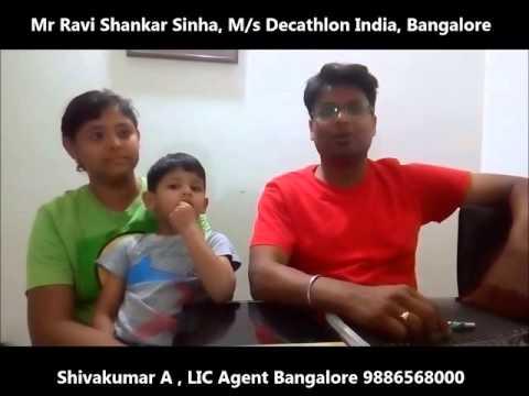 LIC Agent Shivakumar Testimonial life insurance bangalore 9886568000