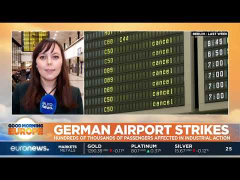 Hundreds of thousands of passengers affected by German airport strikes | #GME