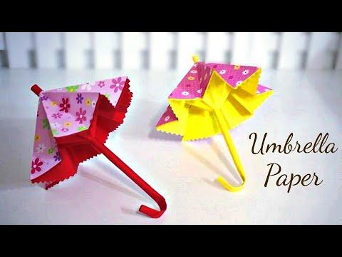 DIY Paper Umbrella / Miniature Umbrella :: 색종이 우산 만들기 / 미니어처 우산 만들기
