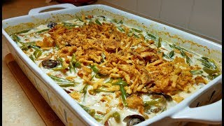 Green Bean Casserole Recipe (Mushroom Cream Sauce Recipe)