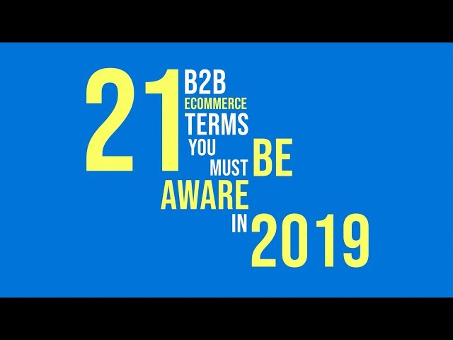 21 B2B Ecommerce Terms You Must be Aware of in 2019 | InSync