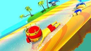 Aquapark.IO - Đua trượt ống nước cùng gấu mèo - culytv chơi game vui nhộn