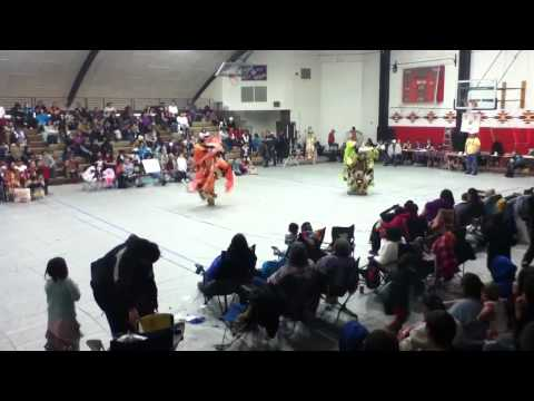 Browning middle school powwow fancy dance dual