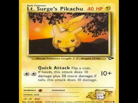 all pikachu cards youtube
