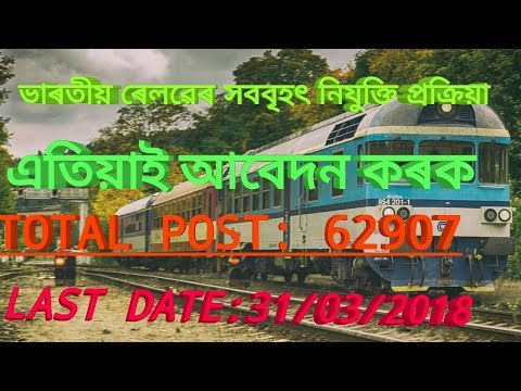 RRB Guwahati Recruitment 2018 Group D post Apply online