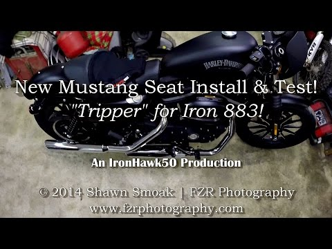 New Mustang Tripper Solo Seat Install & Test! - Iron 883! | ShopTalk