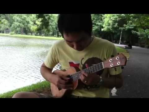 รักไม่ต้องการเวลา ukulele cover by jamorn บรรเลง