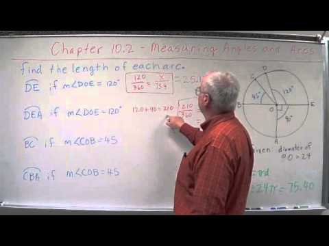 Geometry Chapter 10.2 - Measuring Angles & Arcs - Length ...
