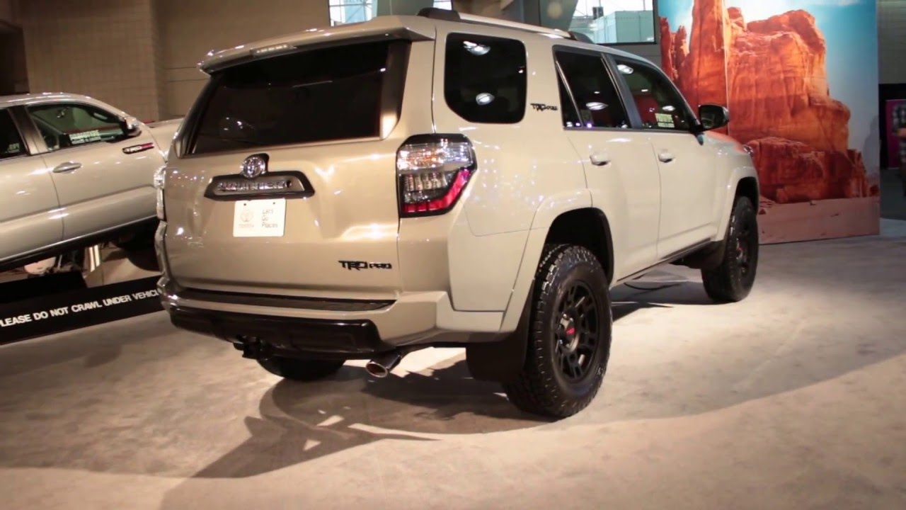 2017 toyota 4runner trd pro exterior walkaround 2016 new. Black Bedroom Furniture Sets. Home Design Ideas