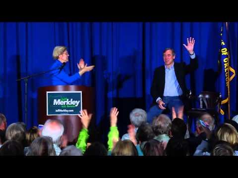 Elizabeth Warren grassroots rally for Jeff Merkley