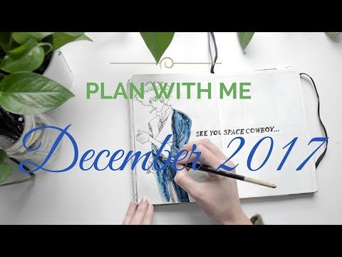 🌀  PLAN WITH ME | December 2017 Bullet Journal Spread