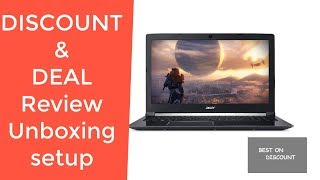 Acer Aspire 7 Casual Gaming Laptop A715-72G-71CT REVIEW DEAL DISCOUNT SALE UNBOXING SETUP