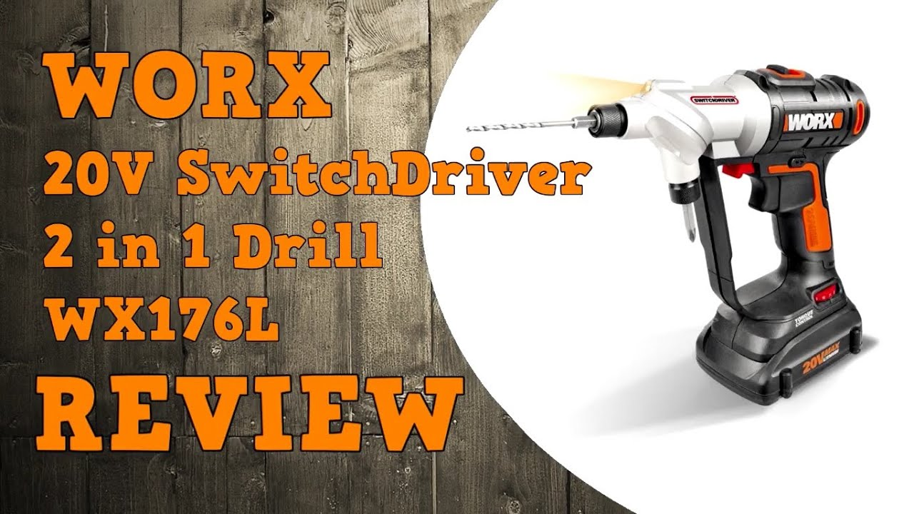 Worx Schroefboormachine Worx 20v Switchdriver Wx176l Review