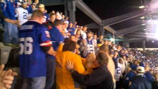 NY Giants game brawl after lights turn back on