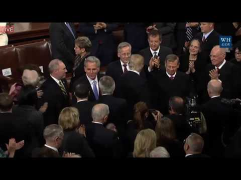 AMAZING: President Donald Trump Arrives at Joint Session of Congress