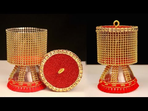 Plastic Bottle Recycling Craft Ideas at Home || Plastic Bottle Jewelry Organizer DIY Idea