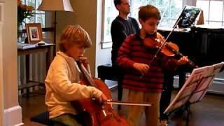 Dvorak Humoresque for Violin & Cello, kids play