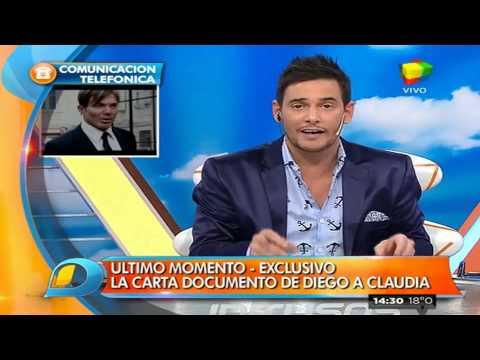 Maradona intimó a Claudia Villafañe con una carta documento