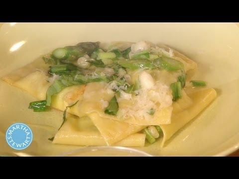 Mario Batali's Asparagus Ravioli – Meatless Monday – Martha Stewart
