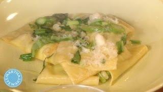 Mario Batali's Asparagus Ravioli - Meatless Monday - Martha Stewart
