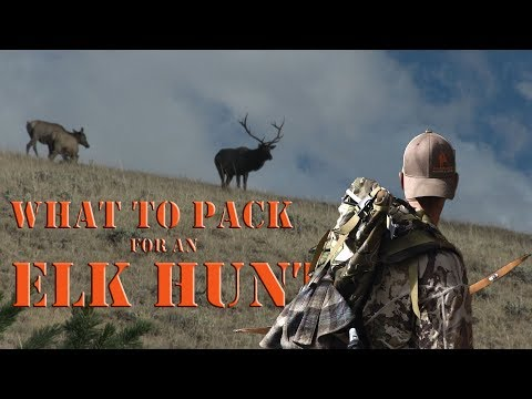 Archery Elk Hunting Day Pack - What Gear Do You Need?