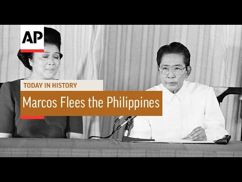 Ferdinand Marcos Flees the Philippines - 1986 | Today In History | 25 Feb 17
