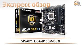 gIGABYTE GA-B150M-DS3H - экспресс обзор материнской платы