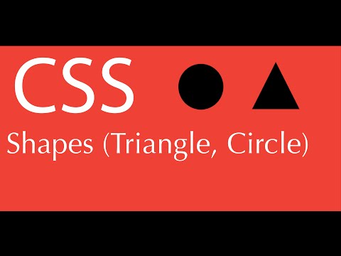 How To Make A Triangle And Circle In Css - Html Div Element