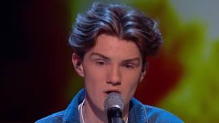 Harry Gardner covers Ed Sheeran's Supermarket Flowers Semi Final 2 Britain's Got Talent 2017