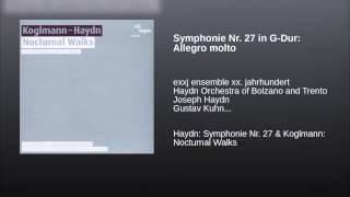 Symphonie Nr. 27 in G-Dur: Allegro molto