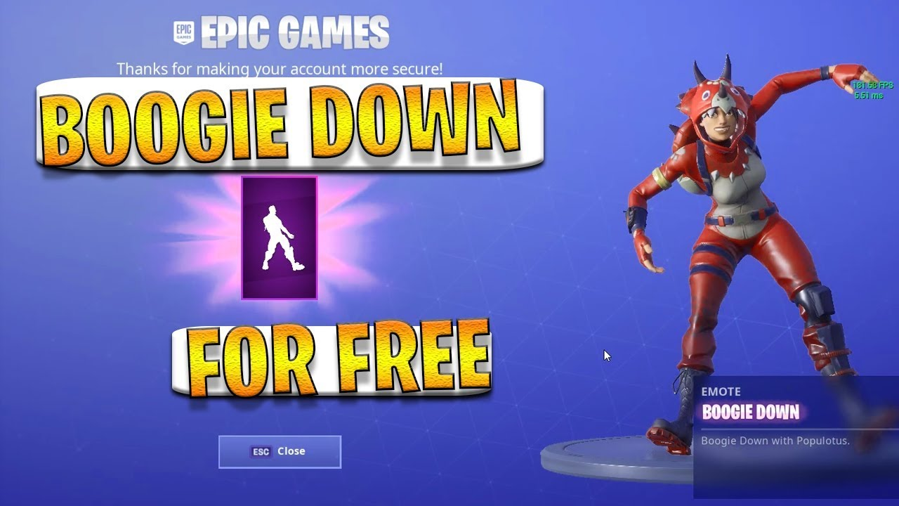 BOOGIE DOWN Emote *FOR FREE* By Enable TWO FACTOR ...