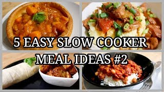 5 SIMPLE SLOW COOKER MEALS ~ EASY FAMILY MEAL IDEAS #2