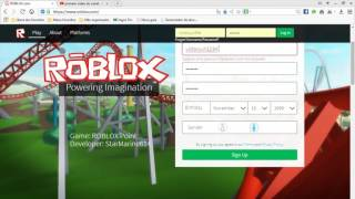 This tuturial eum how to do account at ROBLOX
