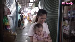 Single Mom Goes To The Market With Her Cute Baby In The Morning | ỐC Family
