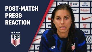 POST MATCH REACTION Alex Morgan USWNT vs France 04 13 21