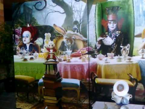 Alice and wonderland display