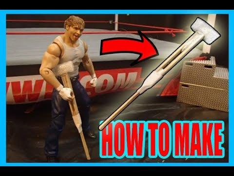 How To Make a Crutch For WWE FIGURES! *EASY!*