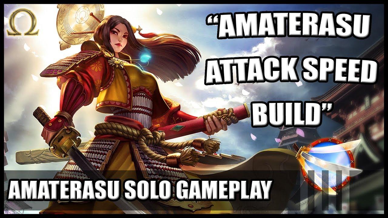 Smite Amaterasu Solo Amaterasu Attack Speed Build 5 14 Youtube