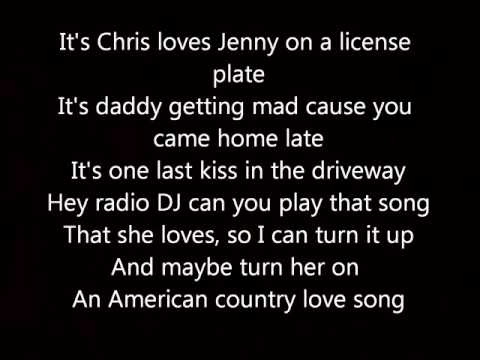 Jake Owen American Country Love Song Lyrics