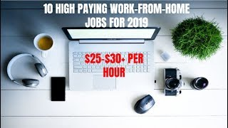 10 High Paying Work-From-Home Jobs for 2019