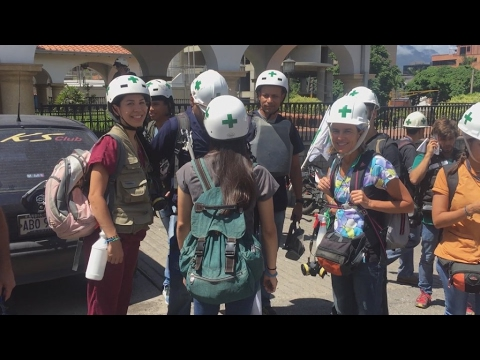 Venezuela's 'Green Cross': First aiders on the front line