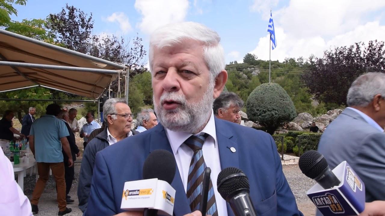 Ο Δήμαρχος Τρίπολης στην εκδήλωση για την 193η επέτειο της Μάχης στα Τρίκορφα