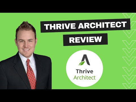 Thrive Architect Review + Live Page Build!!!